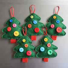 Felt Design Ideas Quirky Handmade Christmas Decoration Felt And Button