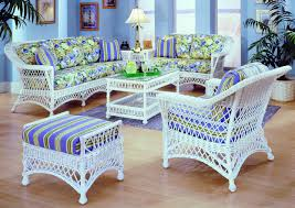 Wicker Living Room Sets Bar Harbor White Rattan Sunroom Furniture From Spice Island Wicker
