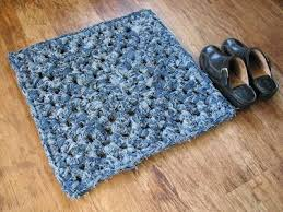 crochet denim rug