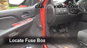interior fuse box location chevrolet avalanche  interior fuse box location 2007 2013 chevrolet avalanche 2009 chevrolet avalanche lt 6 0l v8