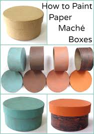 How To Decorate Paper Mache Boxes How to Paint Paper Maché Boxes 60 examples Pet Scribbles 1