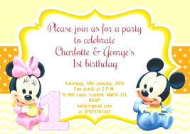 Free Online Party Invitations With Rsvp Mickey Mouse Invitations Online Online Birthday Invitations With