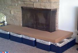 diy fireplace hearth cushion baby proofing fire proof tanner
