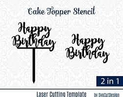 Happy Birthday Cake Topper Template Reactorreadorg