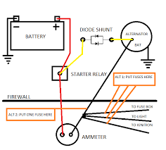 alternator wiring diagram ammeter alternator alternator wiring for a bodies only mopar forum on alternator wiring diagram ammeter