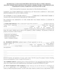 Apartment Lease Common Lease Agreement Template Condo Apartment ...