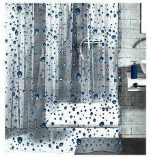 pvc free shower curtain bubble design