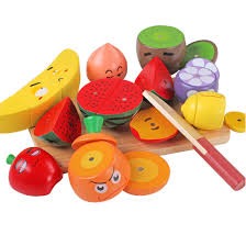 baby wooden kitchen toys fruite slice  pcs set wooden fruit expressions kitchen cutting toy early developmen