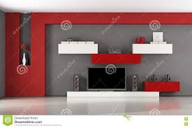 Living Room Tv Set Modern Living Room With Tv Set Stock Illustration Image 73655932