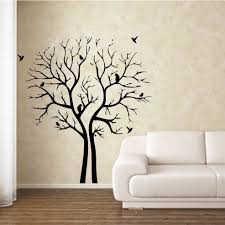 Wall Art Decor Ideas Black Printable Tree Branch Wall Stencils Printable  Tree Branch With Birds Wall Stencils Black Painting Mural On Wall Large  Living