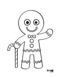 Color A Gingerbread Man Printable Coloring Page Classy World