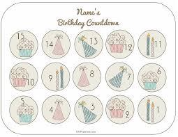 Free Printable Birthday Countdown Customize Online