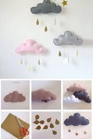 diy rainy clouds mobile for 25 diy nursery decor ideas toddler girl room