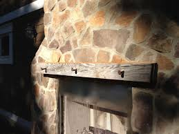 Railroad Tie Mantle hand crafted reclaimed wood fireplace mantle by bmc millwork 4460 by xevi.us