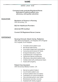 Registered Nurse Resume Examples Resume Sample Registered Nurse