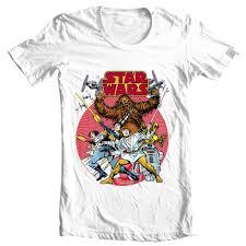 Design T Shirt Store Graphic Star Wars Retro Design T Shirt Original Comic Book 1970s Cotton Graphic Tee