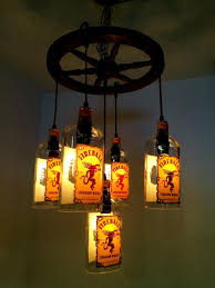 pm glass works on twitter 5 bottle fireball chandelier with regard to incredible house whiskey bottle chandelier ideas