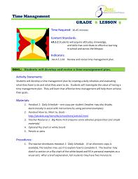 Time Management Grade Lesson