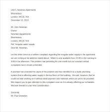 Complaint Letter Landlord Letterform231118 Com