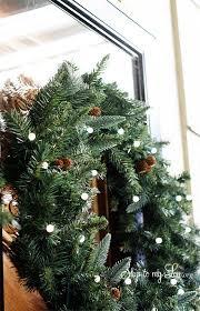 how to hang wreath on storm door