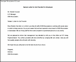 Letter Of Intent Sample Template Adorable Job Transfer Letter Intent For Sample Of Work Working Capital