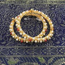 Devita Designer Jewellery Single Pola And Moti Bangle Jewelry Bangles Gold Jewelry