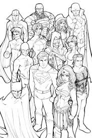 Small Picture Free Justice League Coloring Page Online Superheroes Coloring