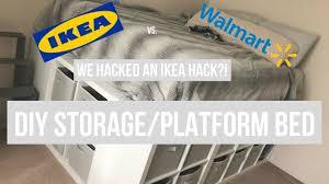 platform bed walmart. IKEA Hack Platform Bed DIY Turned WALMART Walmart