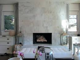 white marble fireplace view in gallery glamorous living room with a marble fireplace white marble tile