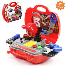 Childrens Pretend Tool Kit Construction Toy Carrycase for Kids Boys 19 Piece Present 2 Year Old Boy: Amazon.co.uk