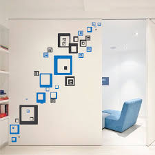 square shaped wall decals