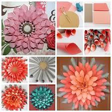 Dahlia Flower Making With Paper Wonderful Diy Paper Dahlia Wreath Decorative Clamps