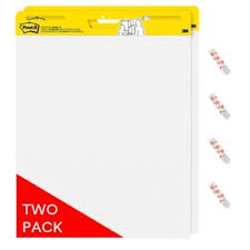Post It Super Sticky Portable Easel Pad Flip Chart 15 X 18 Inches Re Stickable White