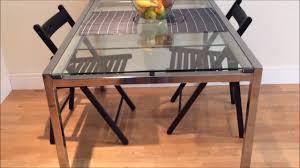 ikea glass dining extendable table glivarp