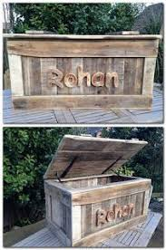 HOME DZINE Home DIY | Toy Box made from Pallet Wood | DIY on Home-Dzine |  Pinterest | Diy toy box, Home-made toys and Toy boxes