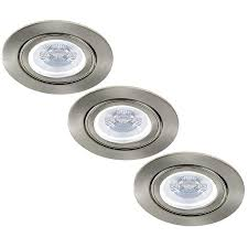Led Down Lights Philips Set Of 3 Dimmable Led Downlights Lublin5 Watt With Philips Spot Tiltable