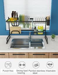 Details About Dish Drying Rack Over Sink Drainer Shelf Kitchen Storage Organization Holders