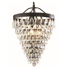 bronze and crystal chandelier. Allen + Roth Eberline 12.76-in Oil-Rubbed Bronze Crystal Single Cone Pendant And Chandelier