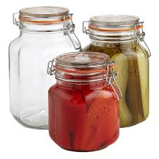 Set of Kilner Square Hermetic Glass Canning Jars ...