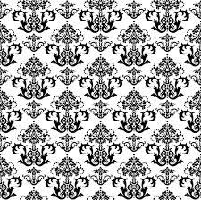 Naadloze Zwart Wit Bloemen Behang Stockvector Linas 4348660