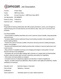 Comcast Resume Sample Custom Research Sports Marketing Surveys hvac technician example 4