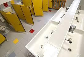 Preschool bathroom Snapjaxx Inside Bathroom For Children In The Preschool Without People Stock Photo 68219969 123rfcom Inside Bathroom For Children In The Preschool Without People Stock
