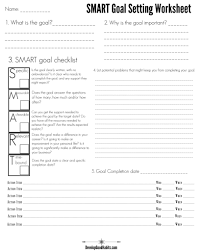 4 Free Goal Setting Worksheets – Free Forms, Templates And Ideas To