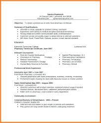 Pharmacy Technician Sample Resume Tomyumtumweb Com