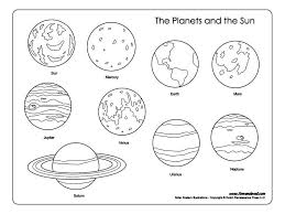 Solar System Coloring Pages Kids On Free Printable Coloring Pages