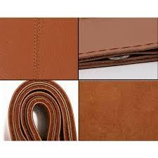 "15"" Genuine Leather <b>Car Steering Wheel Cover</b> Hand Stitching DIY ..."