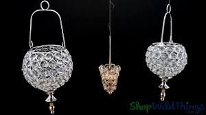 prestige real crystal beaded hanging candle holders wildthings