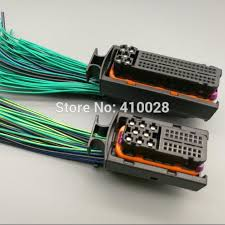 online buy whole engine board pins from engine board car 40p 81p engine wiring harness plug 121p 121 pin 1j0 906 385c 038