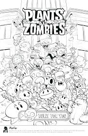 Plants Vs Zombies Coloring And Plants Vs Zombies Coloring Pages