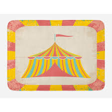 ambesonne circus bath mat by circus tent ilration with grunge look vintage entertainment carnival theme